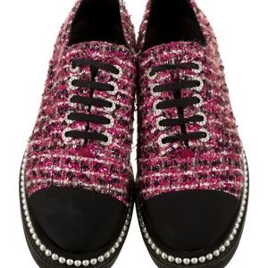 Limited edition Chanel tweed oxfords